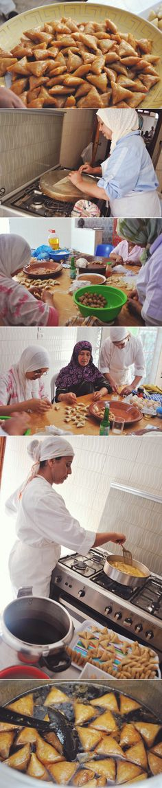 Almond-Filled Warqa (homemade paper-thin dough) Triangles dipped in Coca-Cola Syrup | BRIWAT #moroccan #dessert