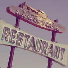 """Roadrunner Retreat Restaurant"" Ross Studio, Photography, 2002 Route 66 Between Amboy and Essex  #Roadside #instaart #vintage #creative#photooftheday #RossStudio #Painting #Signs #neon #neonsign #neonsignage #Americana #nostalgia #signage #igsignage #neonporn #vintagesigns #signgeeks #signstalkers #lettering #picoftheday #Route66 #RT66 #RoadrunnerRestaurant #Photography #California #Amboy"