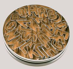 Patisse Alphabet Cookie Cutters In a Tin Set Cute Alphabet, English Alphabet, Alphabet Cookie Cutters, Kitchen Tools, Personalized Items, Cookware, Tin, Future, Cooking Ware
