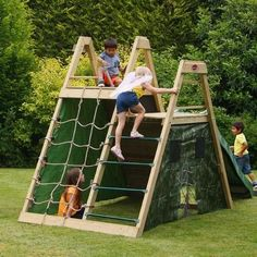Plum Climbing Pyramid Climbing Frame Play Centre, All Round Fun Kids Outdoor Play, Kids Play Area, Backyard For Kids, Outdoor Fun, Backyard Ideas, Backyard Playset, Backyard Playhouse, Outdoor Playset, Wooden Climbing Frame