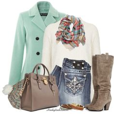 """Mint Peacoat"" by honkytonkdancer on Polyvore"