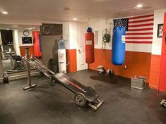 Interior:Interesting Facts You Need To Know About Man Cave Room Sporty Themes Man Caves Decor Hanging Boxing Trainer Concrete Grey Flooring Unique Exercise Tools Concrete Floor