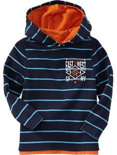Old Navy - Striped Logo Hoodies for Baby