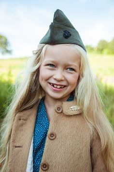 Fashionkins // Field Trip. Cute shoot with army style hats and nostalgic features