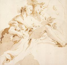 Zephyr and Flora by Tiepolo