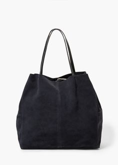 Bolso shopper serraje -  Mujer | MNG