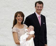 Princess Marie of Denmark, Prince Joachim of Denmark and Princess Athena of Denmark attend the christening of Princess Athena of Denmark on May 20, 2012 in Tonder, Denmark