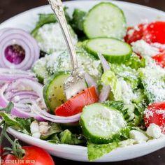 Easy Mediterranean Salad - Gather for BreadFacebookInstagramPinterestTwitterFacebookInstagramPinterestTwitter
