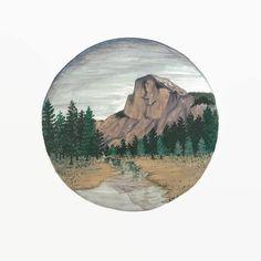 Yosemite Print Yosemite Painting Yosemite Art by BirchBliss