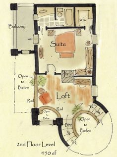 House Plans With Circular Staircase Place Also Graces