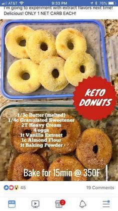 Keto Hot Breakfast Adaptable with other milks in varying proportions. - Keto Breakfast - Ideas of Keto Breakfast - Adaptable with other milks in varying proportions. Keto Cookies, Keto Donuts, Keto Bagels, Low Carb Bagels, Healthy Donuts, Low Carb Pancakes, Keto Chocolate Chip Cookies, Chocolate Cake, Low Carb Desserts
