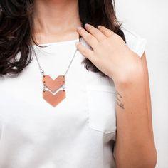 Leder Kette / Halskette von Wonder and Question auf DaWanda.com