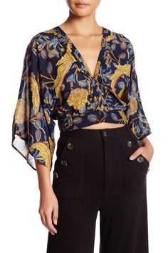 Plunge Front Blouse by OOBERSWANK on @nordstrom_rack