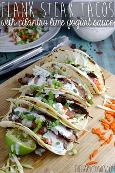 Flank Steak Tacos wi