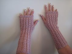 Pellavasydän: Kämmekkäät Fingerless Gloves, Arm Warmers, Knitting, Crochet, Crafts, Fashion, Knitted Gloves, Tunics, Fingerless Mitts