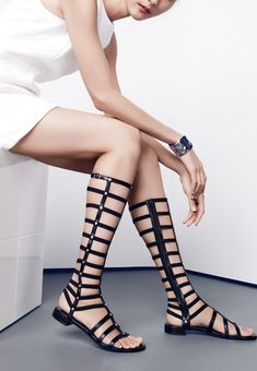 These Stuart Weitzman gladiator sandals are so fierce.