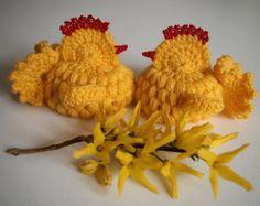 Easter chick (egg cozy), Set of 2, Crochet, Decoration, Handmade Crocheted Easter Gift, Easter Chicken