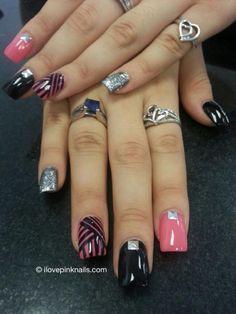 Pink & Black Nail Swagg