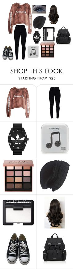 """""""1/2/18"""" by rabianasir-24 ❤ liked on Polyvore featuring High Heels Suicide, adidas Originals, Happy Plugs, Bobbi Brown Cosmetics, Laundromat, NARS Cosmetics, Converse and Burberry"""