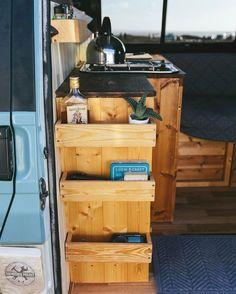 75 Camper Van Interior Design And Organization Ideas - Van Life Bus Camper, Camper Life, Rv Campers, Beach Camper, Luxury Campers, Teardrop Campers, Teardrop Trailer, Vw T5, Volkswagen Bus