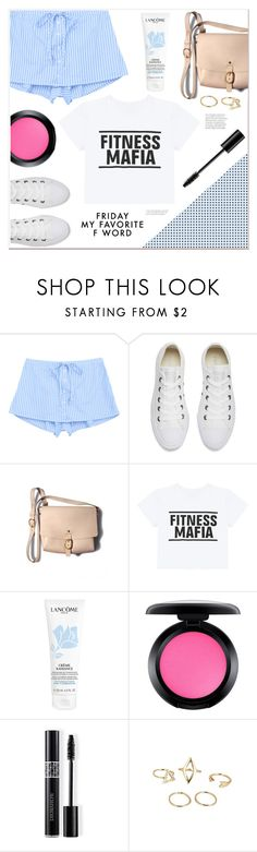 """Friday my favorite F word"" by mycherryblossom ❤ liked on Polyvore featuring Converse, Lancôme, MAC Cosmetics and Christian Dior"