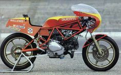 The 1983 MY Ducati TT2 600 boats a maximum power output of 58 horsepower at 10500 rpm from its air-cooled, four-stroke, 583cc, 90-deg...
