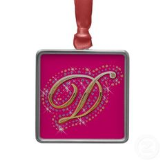 Hang Golden ornaments from Zazzle on your tree this holiday season. Pink Christmas Ornaments, Letter J, Create Your Own, Stuff To Do, Initials, Diamonds, Seasons, Holiday Decor, Crafts