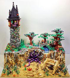 Disney freestyle lego expansion for Tangled & Brave Lego Disney Princess, Lego Princesse Disney, Princess Star, Fantasy Princess, Lego Design, Lego Friends, Lego Poster, Construction Lego, Lego Girls