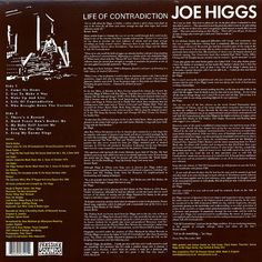 Joe Higgs - Life Of Contradiction (back cover)