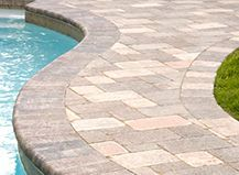 Stone Pavers Poolside #pavers #pool #jacuzzi #patio #oasis #deck #remodel #outdoorliving #systempavers #homedecor