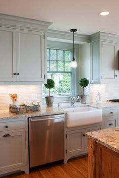 Custom cabinetry finished in Light Blue by Farrow & Ball - Kitchen Pantry Cabinets Farrow And Ball Kitchen, Crown Point Cabinetry, New Kitchen, Kitchen Ideas, Kitchen Designs, Kitchen Pantry Cabinets, Custom Cabinetry, Kitchen Colors, Home Kitchens