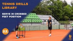 Top tennis drills: Serve in crossed feet position Tennis Videos, Drills, Improve Yourself, Basketball Court, Positivity, Ads, Free, Drill, Optimism