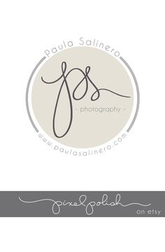 Handwritten Initials, Round logo for stickers. Part of our Deluxe Package that includes a signature line and initials logo.