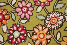 Richloom Wizard Printed Cotton Drapery Fabric in Eye Candy