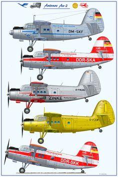 Antonov An-2,  www.flugzeugkunst.eu