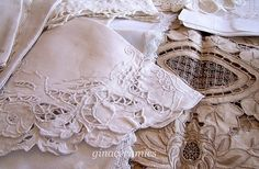 Old Lace Linens - ginacermaics.blogspot.com