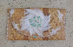 Straw Clutch Bahamas Bahamian Floral Clutch by PrimaDonnaBoutique, $20.00