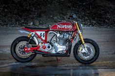 Norton MM by 72 Motorcycles: A tribute to the legendary Ron Wood Norton tracker.