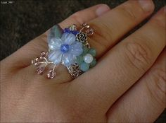 Crocheted ring by Leigh_M, via Flickr