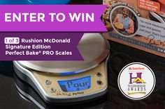 Here's your chance to win a limited, Rushion McDonald signature edition Perfect Bake PRO Smart Scale + Interactive Recipe App!