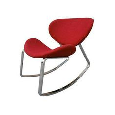 Retro Rocking Chair in Red
