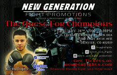 #graphicdesign #layoutservices #designservices #SignaramaColorado #Signs #colorado #designingsigns Event Hand out card design for New Generation FIght Promotions