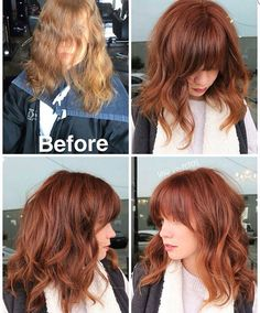 Love this red hair color transformation.