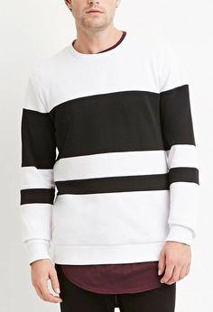 Textured-Colorblock Sweatshirt | 21 MEN | #forever21men