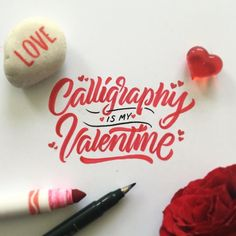 I knowforever alonehappy Valentine's Day for all #calligraphy #typography…
