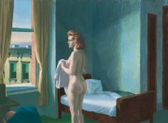 Edward Hopper's Morning in a City borrows its visual language from Vermeer's A Girl reading a letter by an Open Window.