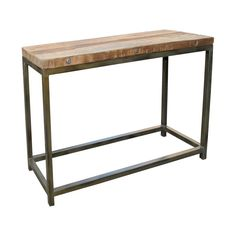 The simply rustic design of the Vintage Console Table is undeniably charming with its reclaimed finish on teak wood. Vintage Console Table   Weekends Only Furniture and Mattress
