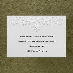 Ecru Whisper - Reception Card weddingneeds.carlsoncraft.com