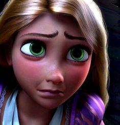 Rapunzel's sad face.