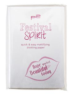 Mihaela Testfamily: Neue Limited Edition von p2: Festival Spirit steht in den Startlöchern!  http://www.mihaela-testfamily.de   #p2festivalspirit #p2 #dm #Beauty #FestivalSpirit #Limited Edition #BlottingPaper